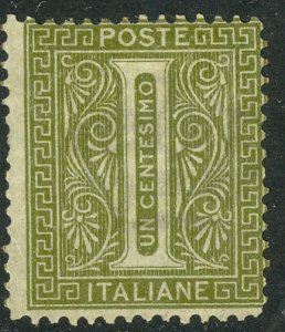 ITALY 1863-77 1c Numeral of Value Issue Sc 24 MHR