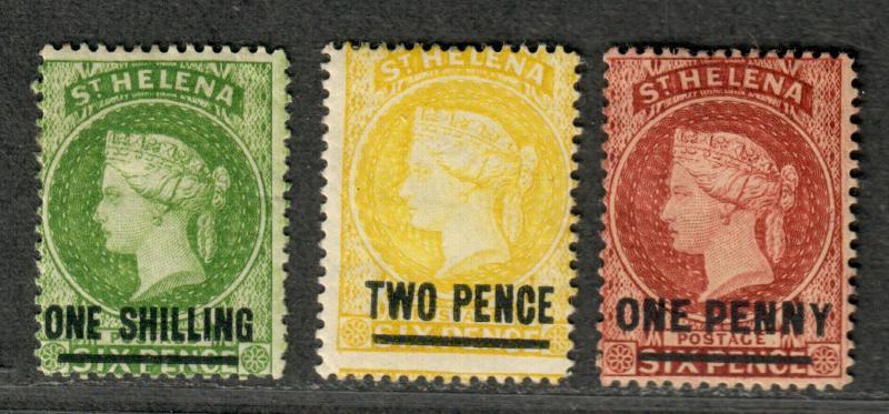 St. Helena Sc#29-31 M/H/F, Complete Set, Cv. $295