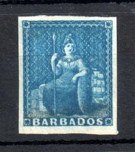 Barbados QV 1855 1d dark blue SG#10 mint MH WS13505
