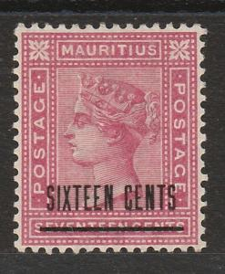 MAURITIUS 1883 QV SIXTEEN CENTS ON 17C