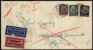 Germany Austria 1943 Feldpost Ostmark Vienna Express Rohrpost Pneumatic Ma 66968