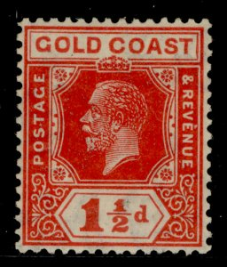 GOLD COAST GV SG88, 1½d red, M MINT.