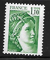 FRANCE, 1663, MNH, SABINE, AFTER DAVID