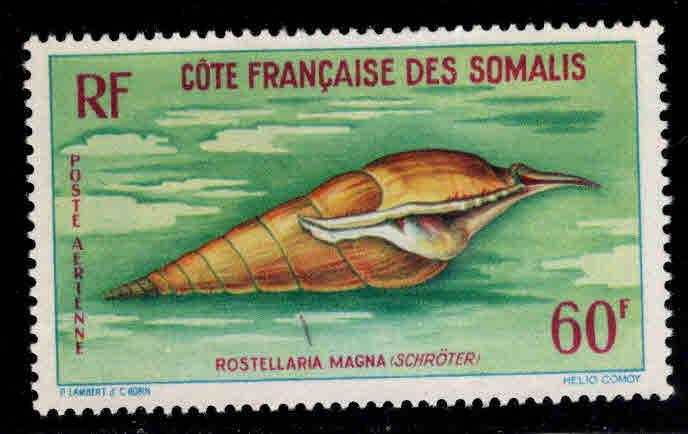 Somali Coast Scott C28 MH* shell Airmail stamp