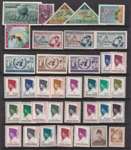 INDONESIA + MALUKU ^^^^^^1950's   MNH  collection     $$@dca1510indo10