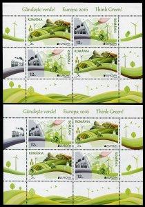 HERRICKSTAMP NEW ISSUES ROMANIA Sc.# 5793b EUROPA 2016 Think Green S/S
