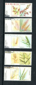 2011   NAMIBIA  -  SG:1175/79  -  GRASSES  -  USED