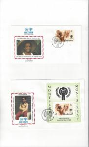 Montserrat FDC International Year of the Child 1979 Official Cachet