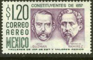 MEXICO C289, $1.20Pesos 1950 Defin 3rd Printing wmk 350. MINT, NH. F-VF.