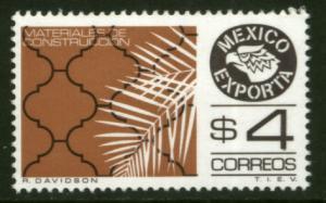 MEXICO Exporta 1119 $4P Construction Mats. Fluor Paper 7 MINT, NH. VF.