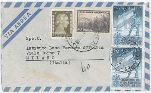 FLAG - ARGENTINA - POSTAL HISTORY: COVER to ITALY 1954