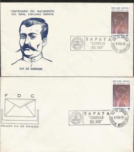 L) 1979 MEXICO, EMILIANO ZAPATA, SOUTH CAUDILLO, CENTENARY OF HIS BIRTH, PEOPLE