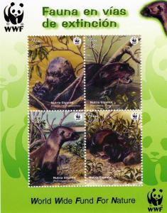 Peru 2004 WWF Nutria SS (1) MNH VF Sc # 1433