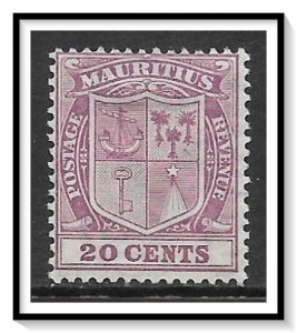 Mauritius #178 Coat of Arms MHR