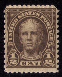 US Sc 551 MNH ,Og 1/2c NATHAN HALE F-VF