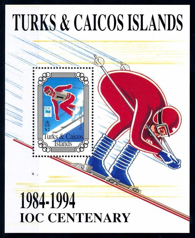 [63247] Turks & Caicos Islands 1995 100 Years of Olympic Committee Sheet MNH