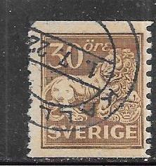 Sweden #129  30o Heraldic Lion (U) CV $4.00