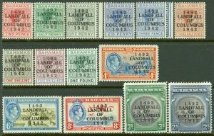 EDW1949SELL : BAHAMAS 1942 Scott #116-29 Complete set. VF, Mint OG. Catalog $63.