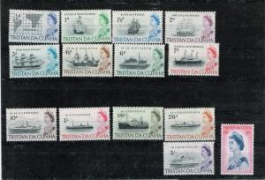 Tristan da Cunha 1965 71-84  ships MH