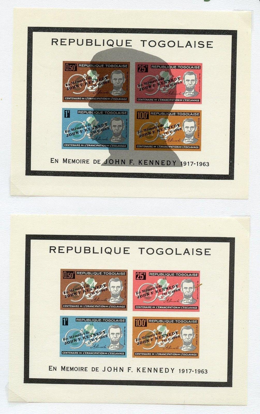 Togo John Kennedy Memorial Stamps Perf Mint Hipstamp Jpg 1005x1600 1963 Stamp Value
