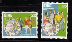 Ireland Sc 624-5 1985 Youth Year stamps mint NH