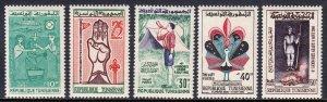 Tunisia - Scott #368-372 - MNH - SCV $3.15