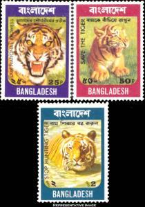 Bangladesh Scott 69-71 Mint never hinged.