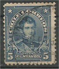CHILE, 1911, used 5c, O'Higgins, Scott 101