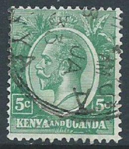 Kenya, Uganda & Tanganyika, Sc #20, 5c Used