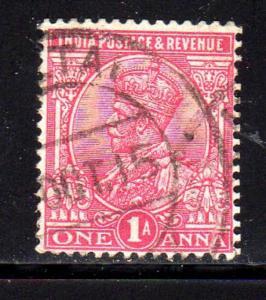 INDIA #82    1911  1a  KING EDWARD  VII  F-VF  USED