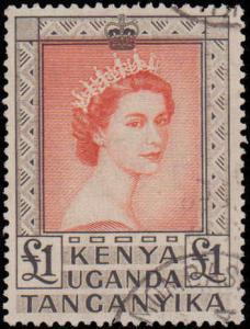 1954 Kenya, Uganda, Tanzania #117, Incomplete Set, High Value, Used