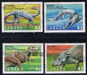 Canada #1495-8 Dinosaurs  VF Used Set