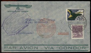 Brazil 1933 Graf Zeppelin Germany Si220A 3.SAF Cover 97430