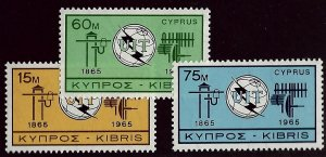 Cyprus SC#257-259 MNH VF SCV$16.50...Worth a Close Look!
