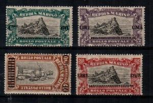 San Marino Scott 89-92 Mint hinged (Catalog Value $58.75)