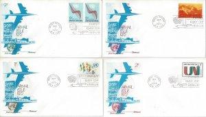 United Nations C15-8  FDC  Airmail  Fleetwood Cachet
