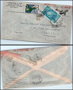 Goldpat: Brazil Air Mail 1935, to France  _CV23_P10