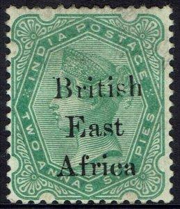 BRITISH EAST AFRICA 1895 QV INDIA 2A6P