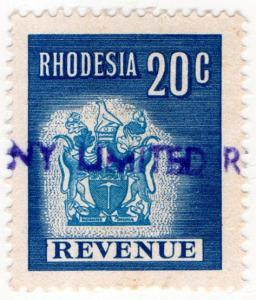 (I.B) Rhodesia Revenue : Duty Stamp 20c