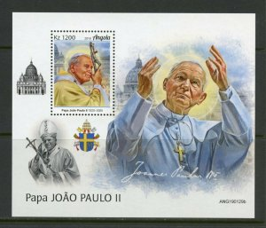 ANGOLA 2019 POPE JOHN PAUL II  SOUVENIR SHEET MINT NEVER HINGED