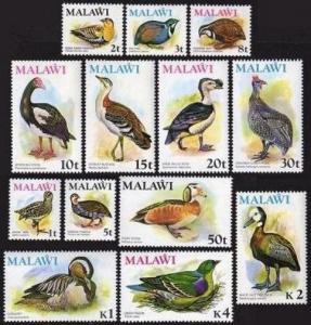 Malawi 233-245,MNH.Michel 229-241. Birds 1975.Snipe,Sand grouse,Quail,Francolin,