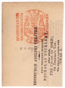 (I.B) QV Revenue : Newspaper Duty 1d (Scotsman or Edinburgh Journal)