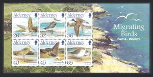 Alderney Migrating Birds 4th series Waders MS SG#MSA265