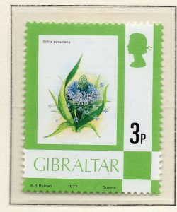 Gibraltar 1977 QEII Early Issue Fine Mint Unmounted 3p. NW-99227