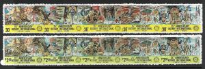 PHILIPPINES 1459-1460 MNH DISASTER RELIEF, ROTARY INTERNATIONAL, 2 STRIPS OF 5