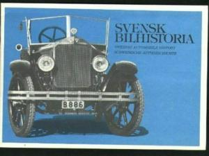 Sweden. FD Book, With Souvenir Sheet.Swedish Auto History 1980. 16 Pages.