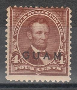 GUAM 1899 LINCOLN 4C