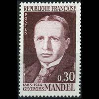 FRANCE 1964 - Scott# 1104 Minister Mandel Set of 1 LH