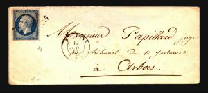 France 1850s Cover to Orbois - Z15693