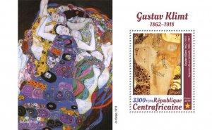 C A R - 2019 - Gustav Klimt - Perf Souv Sheet  - M N H